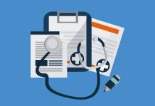 State of Care with clipboard, notes and stethoscope