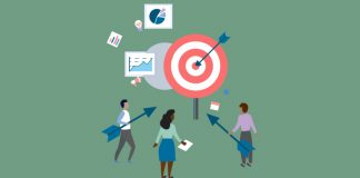 Image of target with people holding arrows and graphs in the background to show New research initiative to tackle multimorbidity - applications required