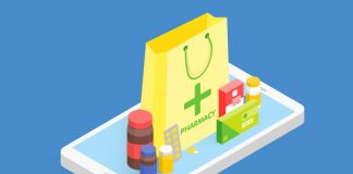 Image of yellow bag with green pharmacy writing and a selection of medications to show Top 10 regulatory issues affecting pharmacy industry