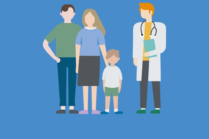 parents with a child and doctor to show MHRA grants licence update for Dysport® in paediatric cerebral palsy