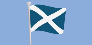 Scottish flag showing Novartis advanced breast cancer treatment approved in Scotland