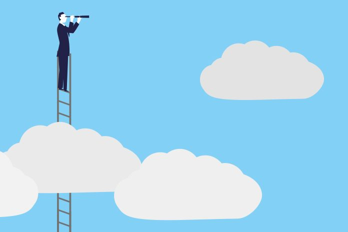 Man on ladder in clouds: Ensuring best practice in pharma recruitment