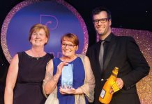 Louise Skelton, Kathy Wadhams and Pf Awards 2017 host, Marcus Brigstocke: Kathy Wadhams, winner of the Clinical Nurse Pf Award 2017, on how a passion for her job and her patients make her work so rewarding.