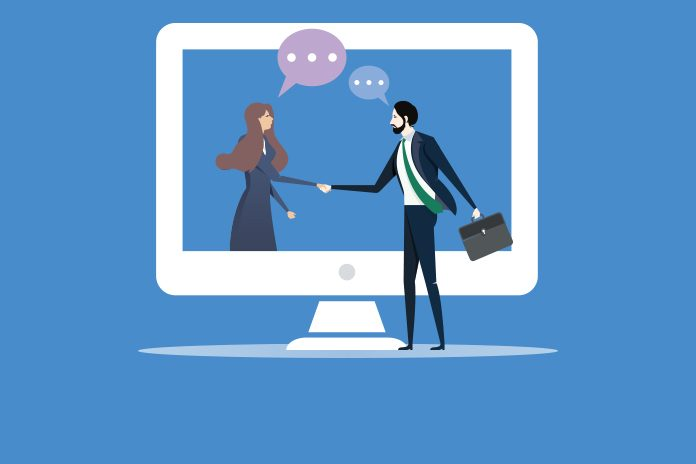 Shaking hands: digital engagement is essential