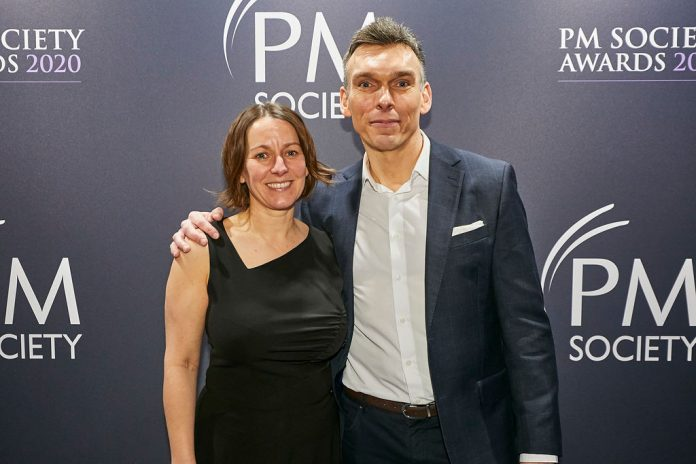 Image of CAroline Benson and Colin Williams who are the new PM Society 2020 co-chairs