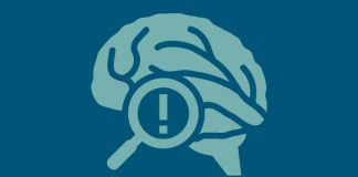 green brain on blue background to show Global initiative to revolutionise early detection of Alzheimer's disease