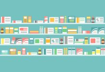 image of pharmacy shelves full of medications to show NHS Discharge Medicines Service to help patients avoid hospital readmission