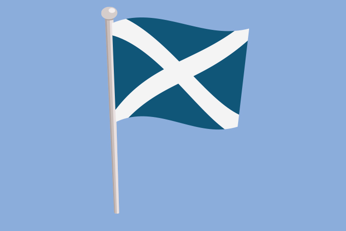 Image of the scottish flag on a blue background to show SMC's latest decisions on new medicines for NHS Scotland