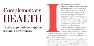Image of Pf Magazine article on health apps and their uptake, use and effectiveness