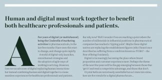 Image of Pf Magazine article that show the five trends of a digital pharma future