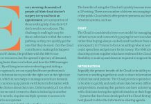 Image of the Pf Magazine article on Harnessing the potential of the Cloud in the NHS