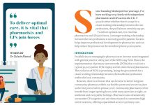 Image of the Pf Magazine article to show GPs and pharmacists are using virtual clinics in primary care
