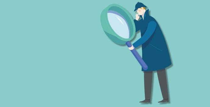 Image of SHerlock Holmes type character with a large magnifying glass to show CMA launches COVID-19 taskforce to monitor market practices