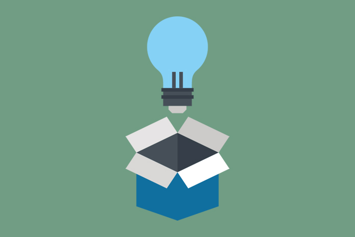 Image of a lightbulb emerging from a box to show It's all in the mind(set): digital transformation in pharma