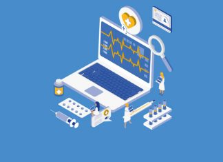 Image of a laptop with medication, health charts and other symbols to show AstraZeneca to showcase new data on type-2 diabetes and cardiorenal complications