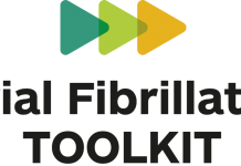 Logo for Atrial Fibrillation Toolkit: Tackling avoidable strokes to save lives and strain on the NHS